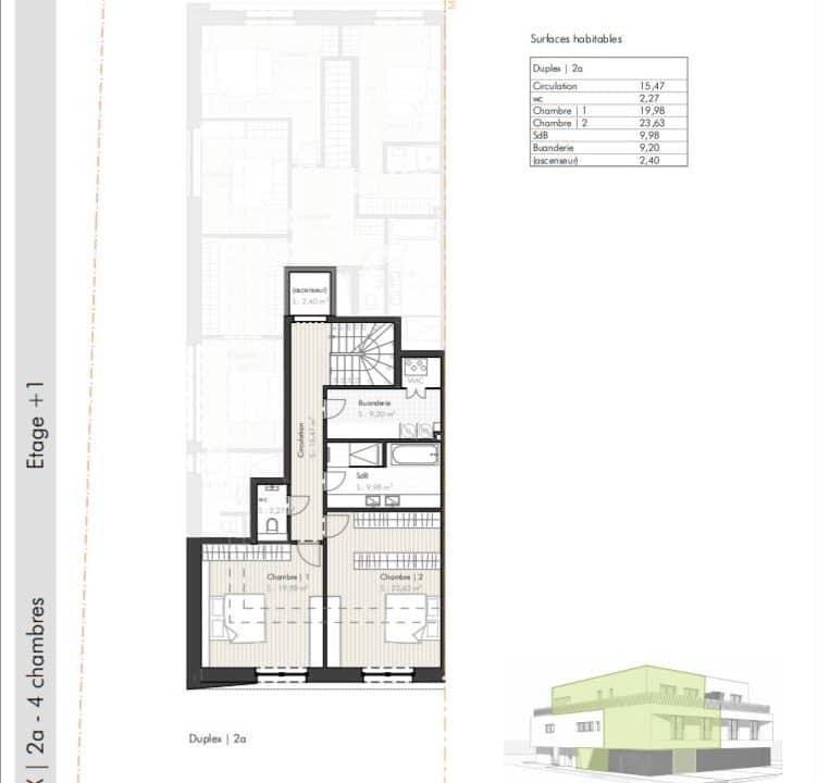 C-Immo Façades Etage 1 Duplex A Hemingway Luxembourg