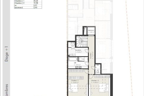 C-Immo Façades Etage 1 Duplex B Hemingway Niederanven Luxembourg