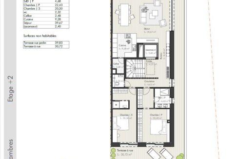 C-Immo Façades Etage 2 Duplex B Hemingway Niederanven Luxembourg