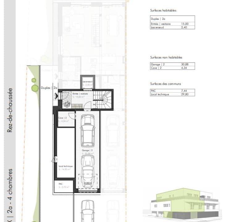 C-Immo Façades Rez-de-chaussée Duplex A Hemingway Luxembourg