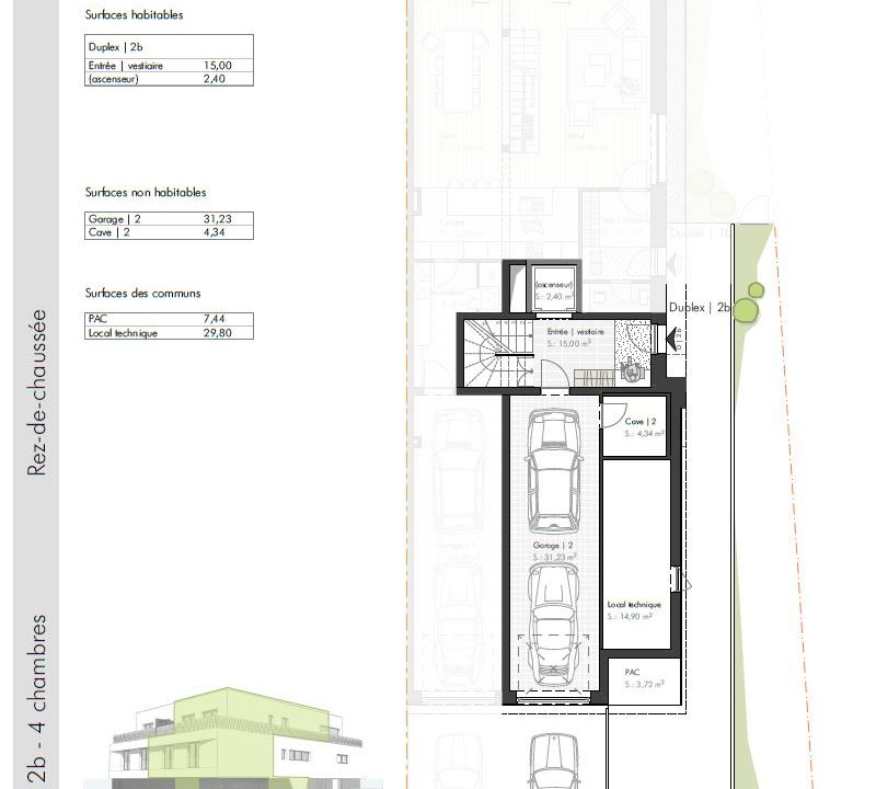 C-Immo Façades Rez-de-chaussée Duplex B Hemingway Niederanven Luxembourg